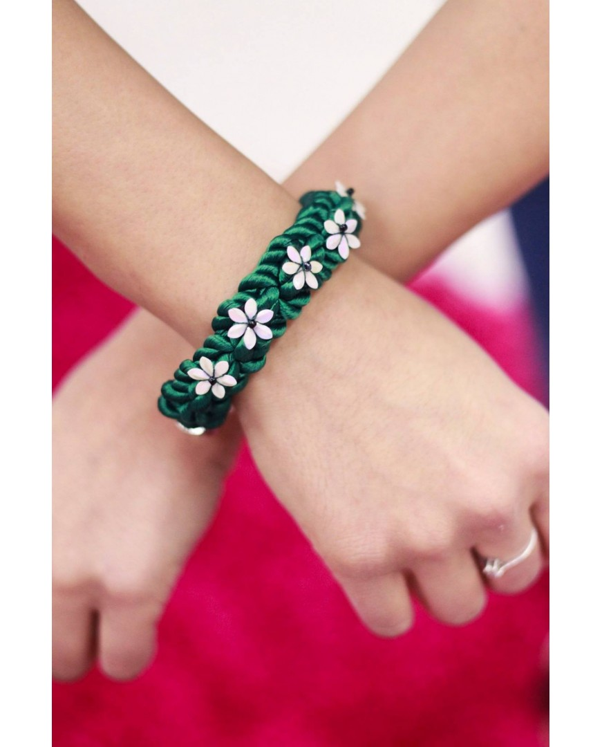 Pulsera Floral Verde