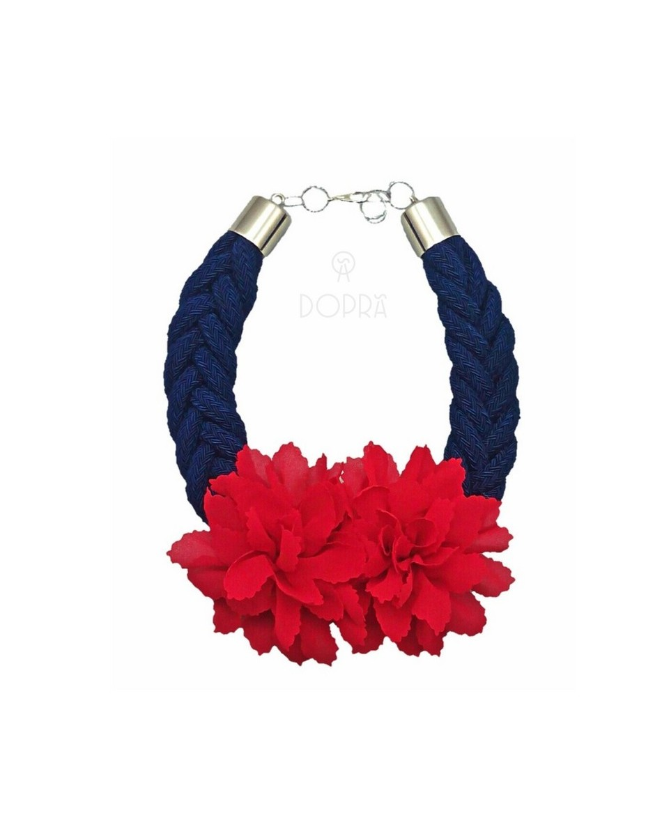COLLAR LOVE FLOR ROJA