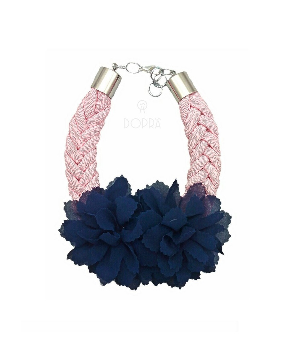 COLLAR LOVE FLOR MARINO