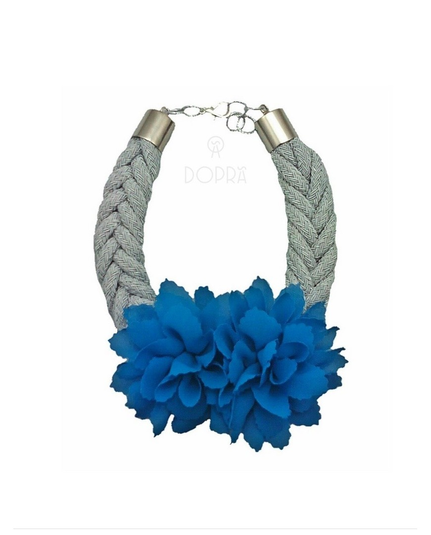 Collar Love Flor Azul